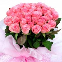 Basket arrangement of 100 pink roses