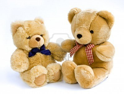 Two teddy bears- 6 inches and 12 inches