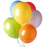 6 Mix colour Balloons AIR FILLED