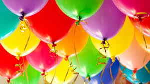 50 Coloured inflated helium gas Balloons