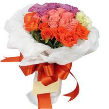 24 Mix Colours Roses Bouquet