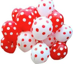 50 Helium Polka Dotted Balloons