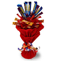 10 mix cadbury chocolates in a bouquet