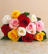 24 Mix roses bouquet