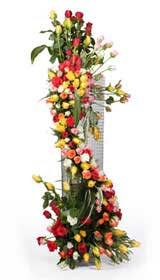 Large Arrangement-3 to 4 feet- of Mix roses