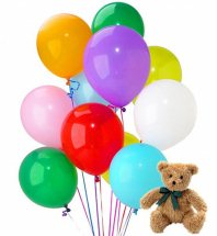 20 Gas Balloons with 12 inches brown Teddy