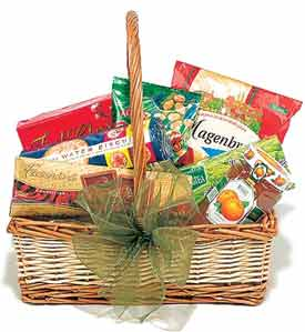 Hamper -1 Kg Sweets, ½ Kg Biscuit Cookies, Assorted Chocolates basket& ½ Kg cake (Specify Flavor in message box)