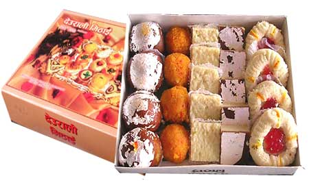 Assorted Indian sweets.