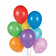 30 Smiley Gas filled Balloons