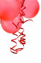 50 RED Balloons AIR FILLED