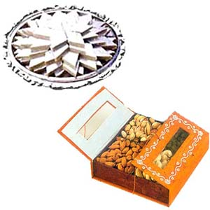 Kaju Barfi with Dryfruits