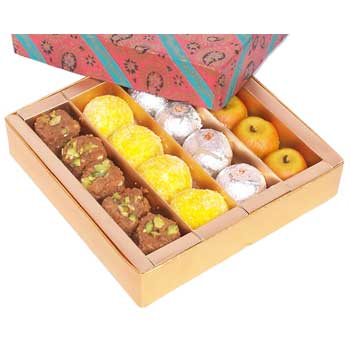 1 Kg  Assorted Indian mithai Card