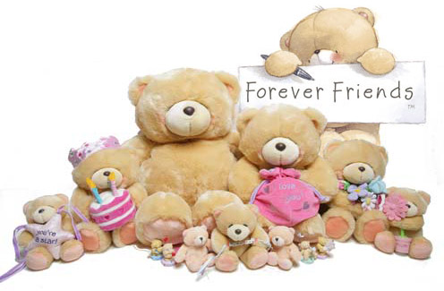15 Teddies in different sizes from 2 feet to 2 inches