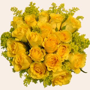 Large Basket of Yellow Roses